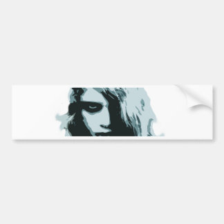 Night of the living zombie girl car bumper sticker