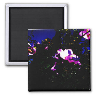 Night of the Purple Flowers 2 Inch Square Magnet