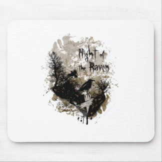 night of the raven affected design mouse pad
