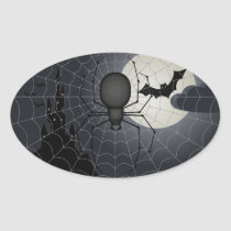 Night of the Spider Oval Stickers