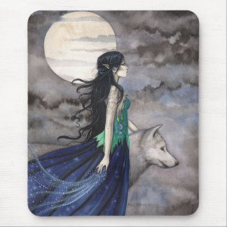 NIght of the Wolf Gothic Fantasy Mousepad