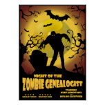 Night Of The Zombie Genealogist Posters