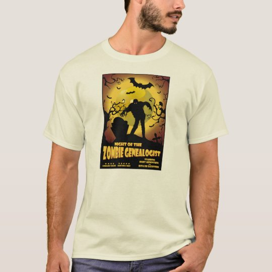 Night Of The Zombie Genealogist T-Shirt