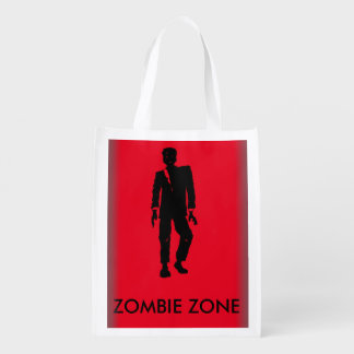 NIGHT OF THE ZOMBIES  by B.McNutt Reusable Grocery Bag