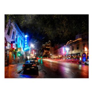 Night on 6th Street - Austin Texas Postcard