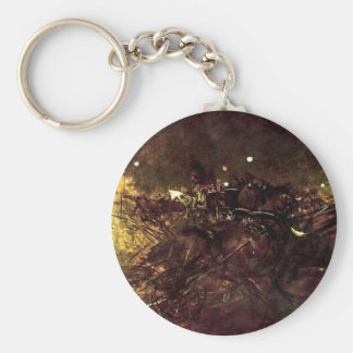 Night on Montmartre by Giovanni Boldini Keychain