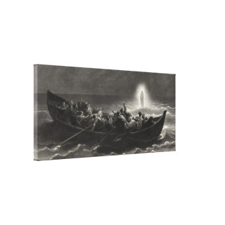 """Night on the Sea of Galilee"" canvas print"