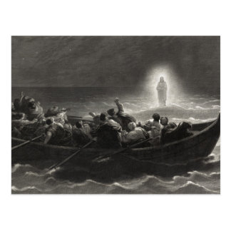 """Night on the Sea of Galilee"" postcard"