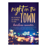 Night on the Town Bachelorette Party Card