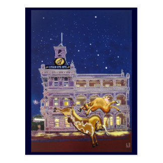 Night on the town - Rockhampton Postcard