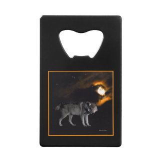 """Night on Wolf Mountain"" Credit Card Bottle Opener"
