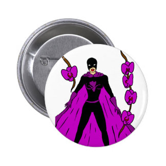 Night Orchid Button