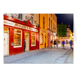 Night Out At The Pubs In Galway Ireland Card