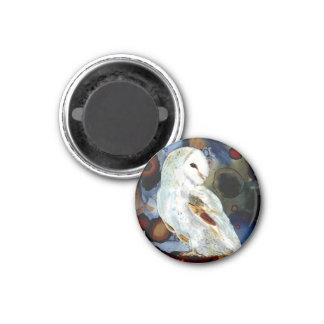 Night Owl 1 Inch Round Magnet
