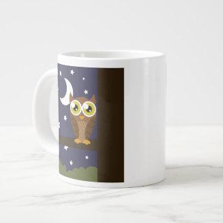 """""""Night Owl"""" 20 Oz Large Ceramic Coffee Mug"""