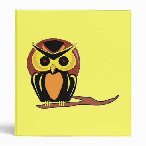 Night Owl 3 Ring Binders