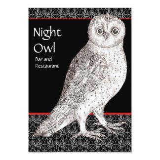 Night Owl Advertising Card or Party Invitation