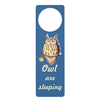 Night Owl - all are sleeping Door Hangers