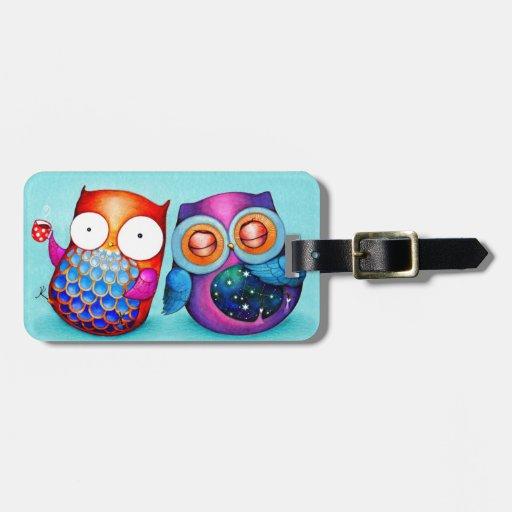 Night Owl and Morning Owl Cuties Bag Tags