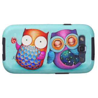 Night Owl and Morning Owl Cuties Samsung Galaxy SIII Covers