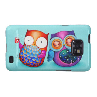 Night Owl and Morning Owl Cuties Samsung Galaxy S2 Cover