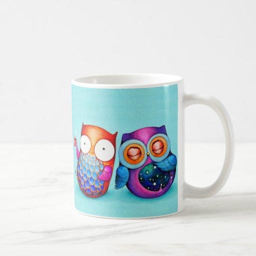 Night Owl and Morning Owl Cuties Classic White Coffee Mug