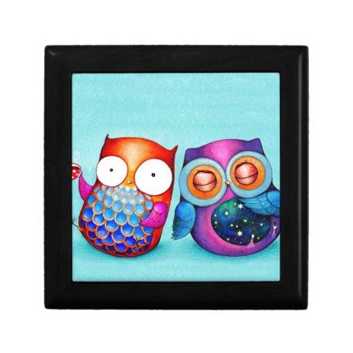 Night Owl and Morning Owl Cuties Keepsake Box