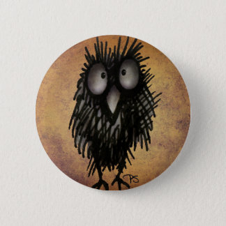 Night Owl Art for Owl Lovers Pinback Button