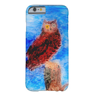 Night Owl Bird Art Barely There iPhone 6 Case