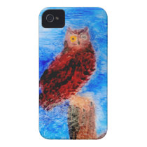 Night Owl Bird Art Case-Mate iPhone 4 Case