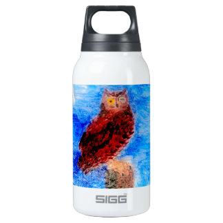 Night Owl Bird Art Insulated Water Bottle