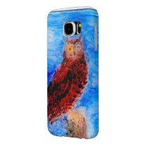 Night Owl Bird Art Samsung Galaxy S6 Case
