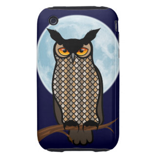 Night Owl Blue Moon iPhone 3 Tough Cover