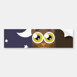 """Night Owl"" Bumper Sticker"