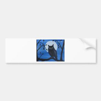 Night Owl Bumper Sticker