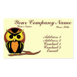 Night Owl Double-Sided Standard Business Cards (Pack Of 100)