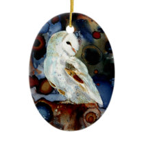 Night Owl Ceramic Ornament
