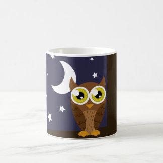 """Night Owl"" Classic White Coffee Mug"