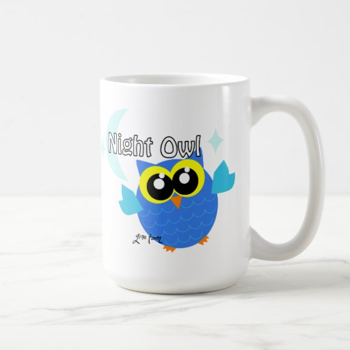 Night Owl Classic White Coffee Mug