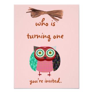 night owl colorful 4.25x5.5 paper invitation card
