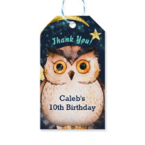 Night Owl Cute Sleepover Slumber Birthday Party Gift Tags