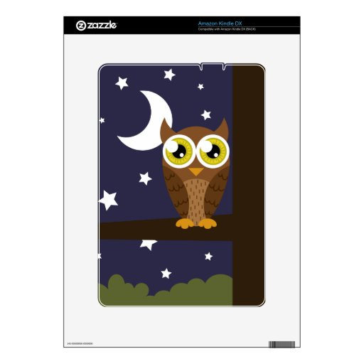 """""""Night Owl"""" Decal For Kindle DX"""
