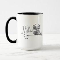 """Night Owl"" Doodle Mug"
