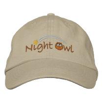 Night Owl Embroidered Baseball Cap