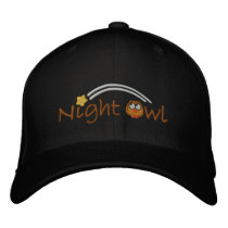 Night Owl Embroidered Baseball Cap