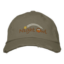 Night Owl Embroidered Baseball Hat