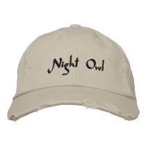 Night Owl Embroidered Cap