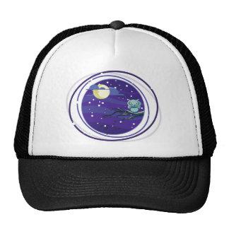 Night owl full moon comic trucker hat