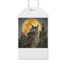 night owl full moon gift tags