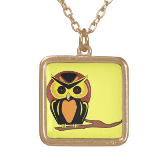 Night Owl Gold Plated Necklace
